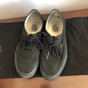 Vans black lace up sneakers